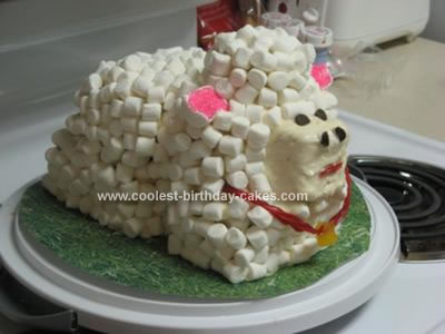Homemade Marshmallow Sheep Cake