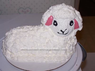 Homemade Mary's Little Lamb Cake