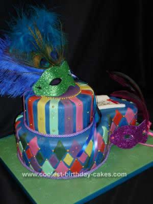 Homemade Masquerade Ball Cake