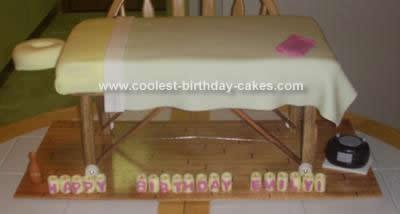 Homemade Massage Table Cake