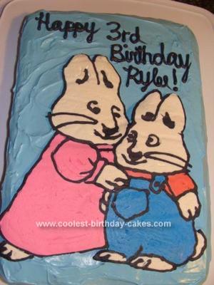 Homemade Max And Ruby Birthday Cake