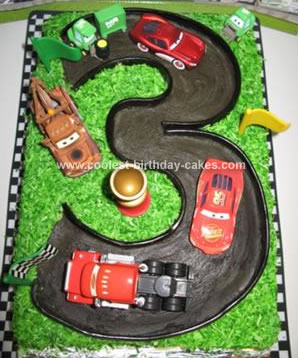 Homemade Mcqueen And Friends Cake