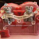 Homemade Me to You Teddy Bears Cake