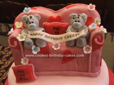 Homemade Me to You Teddy Bears Cake
