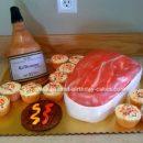 Homemade Scotch Bottle & Meat BBQ Cake