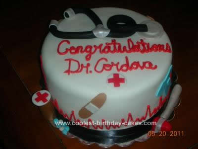 Homemade Med School Graduate Cake