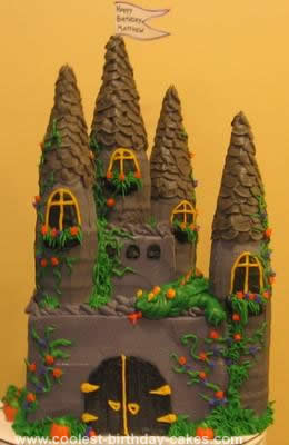 Surprising Coolest Medieval Castle Cake Funny Birthday Cards Online Overcheapnameinfo