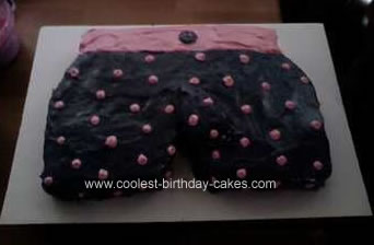 Homemade Mens Boxers Cake