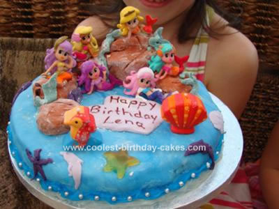 Homemade Mermaid Birthday Cake