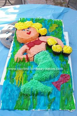 Homemamde Mermaid Cake
