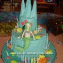Homemade Mermaid Castle Birthday Cake