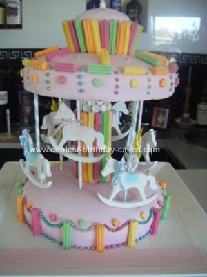 Homemade Merry Go Round Birthday Cake