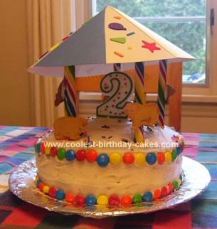 Homemade Merry Go Round Cake