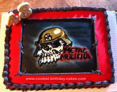 Brilliant Coolest Homemade Motocross Supercross Cakes Funny Birthday Cards Online Overcheapnameinfo