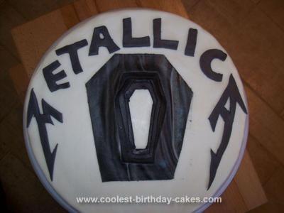 Homemade Metallica Cake