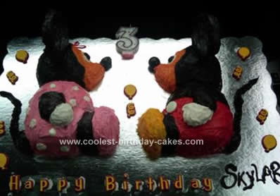 Strange Coolest Mickey And Minnie Mouse Childrens Birthday Cake Funny Birthday Cards Online Barepcheapnameinfo