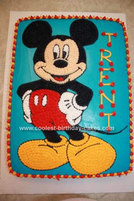 Strange Coolest Mickey Mouse Birthday Cake Personalised Birthday Cards Bromeletsinfo