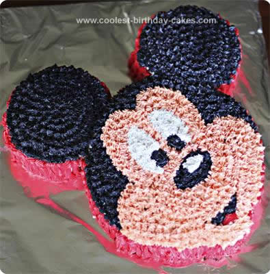 Peachy Coolest Mickey Mouse Birthday Cake Design Funny Birthday Cards Online Hendilapandamsfinfo