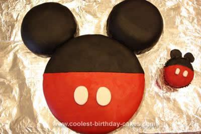 Astounding Coolest Mickey Mouse Birthday Cake Design Personalised Birthday Cards Vishlily Jamesorg