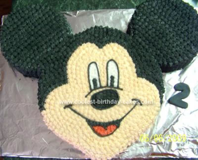 Homemade Mickey Mouse Cake