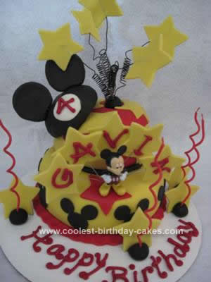 Homemade Mickey Mouse Cake Ever
