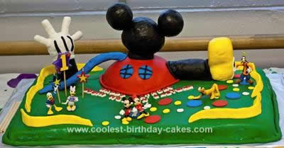Remarkable Coolest Mickey Mouse Clubhouse 1St Birthday Cake Personalised Birthday Cards Bromeletsinfo