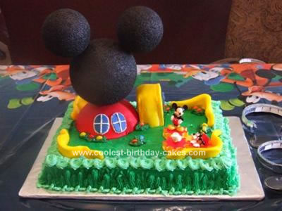 Astounding Coolest Mickey Mouse Clubhouse Birthday Cake Personalised Birthday Cards Veneteletsinfo