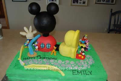 Outstanding Coolest Mickey Mouse Clubhouse Birthday Cake Personalised Birthday Cards Beptaeletsinfo