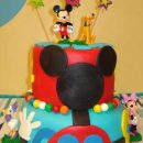 Homemade Mickey Mouse Clubhouse Cake