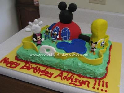 Cool Coolest Mickey Mouse Clubhouse Cake Funny Birthday Cards Online Elaedamsfinfo