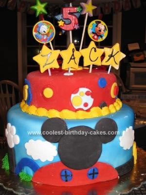 Amazing Coolest Mickey Mouse Clubhouse Cake Funny Birthday Cards Online Elaedamsfinfo