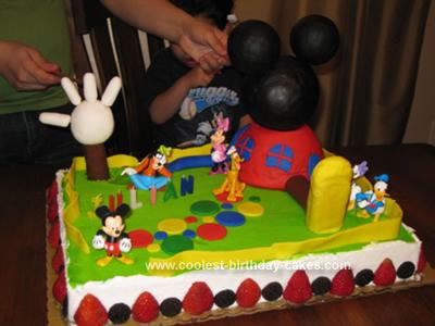 Cool Coolest Mickey Mouse Clubhouse Cake Personalised Birthday Cards Veneteletsinfo