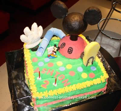 Homemade Mickey Mouse Clubhouse Cake Idea