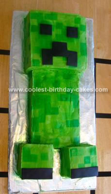 Magnificent Coolest Minecraft Creeper Cake Personalised Birthday Cards Paralily Jamesorg