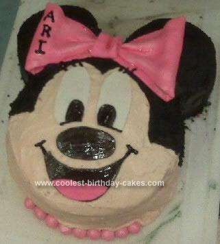 Homemade Mini Mouse Birthday Cake