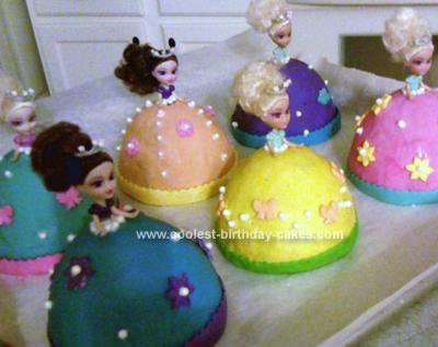 Coolest Mini Princess Cakes