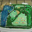 Homemade Miniature Golf Birthday Cake
