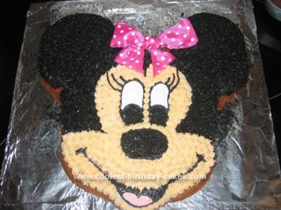 Homemade Minnie Birthday Cake