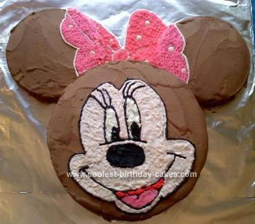 Homemade Minnie Mouse 1st Birthday Cake
