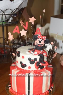 Groovy Coolest Minnie Mouse Birthday Cake Funny Birthday Cards Online Overcheapnameinfo