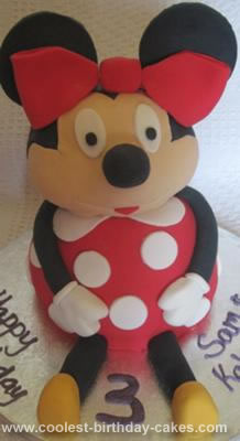 Terrific Coolest Minnie Mouse Birthday Cake Funny Birthday Cards Online Overcheapnameinfo