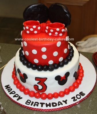 Homemade Minnie Mouse Birthday Cake Design