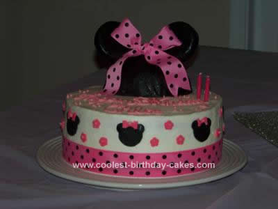 Coolest Minnie Mouse Birthday Cake Design