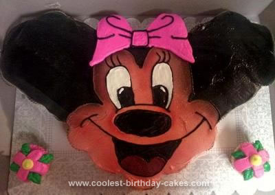 Homemade Minnie Mouse Birthday Cupcake Cake