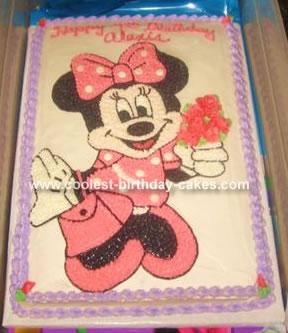 Amazing Coolest Minnie Mouse Cake Funny Birthday Cards Online Amentibdeldamsfinfo