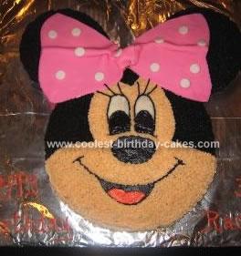 Homemade  Minnie Mouse Cake