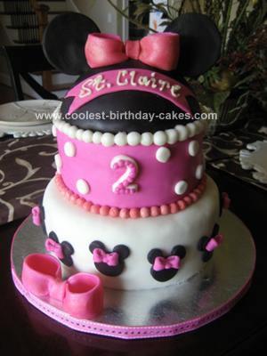 Homemade Minnie Mouse Homemade Cake