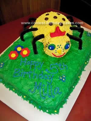 Homemade Miss Spider Birthday Cake