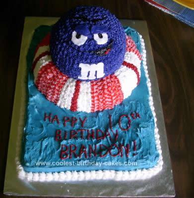Homemade M&M Birthday Cake