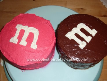 Homemade M&M Cake